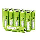 12 x Pilas Recargables AA 100%PeakPower | Capacidad mínima garantizada 2300 mAh NiMH | Pilas AA recargables que vienen precargadas listas para usar | Bajo nivel de autodescarga