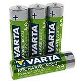 VARTA 5716 - Pilas Recargables AA, NiMHm, 2600mAh, Pack de 4