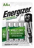 Energizer Power Plus AA - Pilas Recargables, Color Plateado