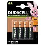 Duracell Pilas Recargables AA 2500 mAh, paquete de 4
