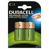 Duracell Ultra - Pilas recargables C 3000 mAh, paquete de 2 unidades