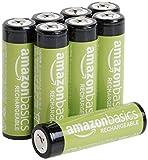 Amazon Basics - Pilas AA recargables, precargadas, paquete de 8 (el aspecto puede variar)